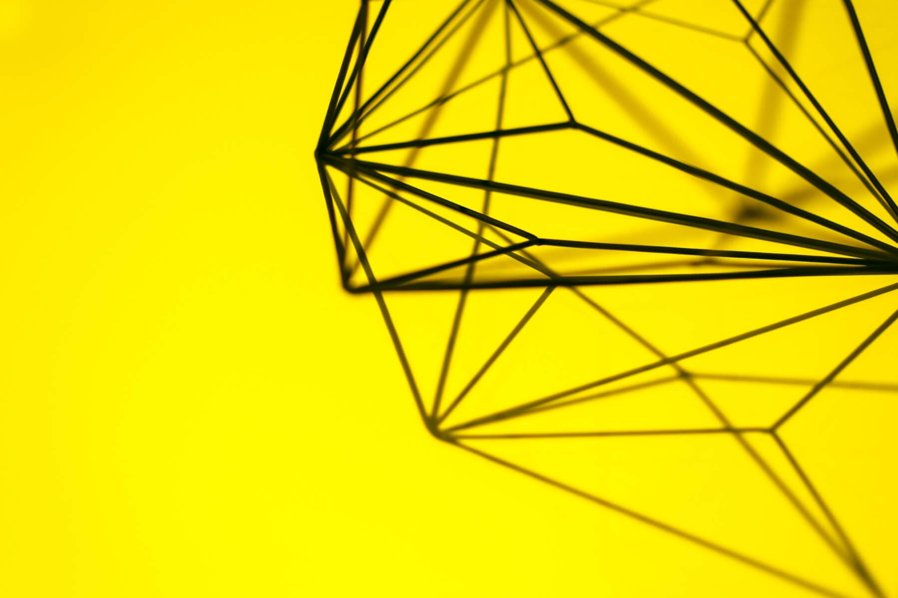 metal decoration on yellow background