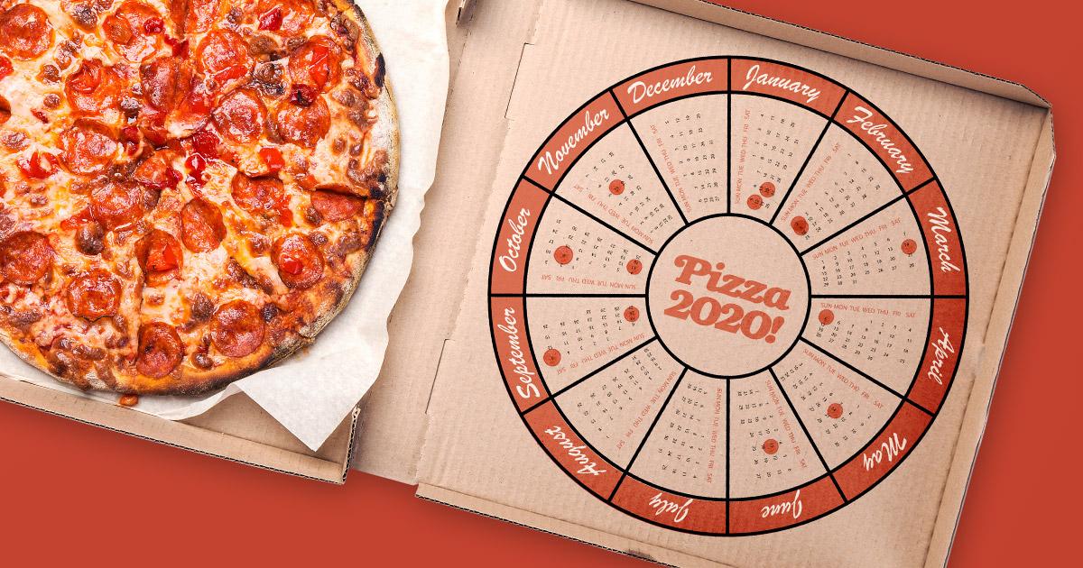 Pizza 2020 calendar