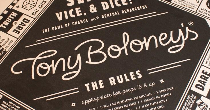 The top of Tony Boloney's box