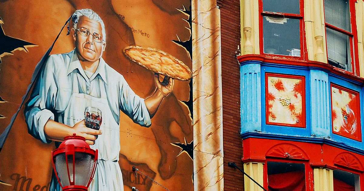 Philadelphia Pizza Mural