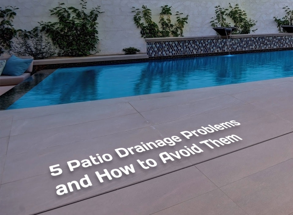 5 patio drainage problems and how to