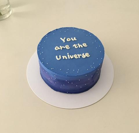 Birthday cake with a message