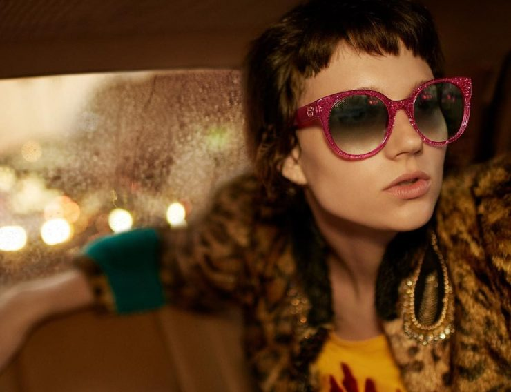 f416f6cd53a Gucci spring summer collection bold bright and big logos jpg 740x569 Girls gucci  sunglasses