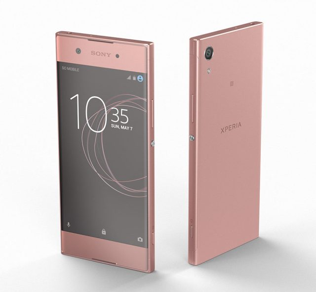 Xperia XA1_rose_front back