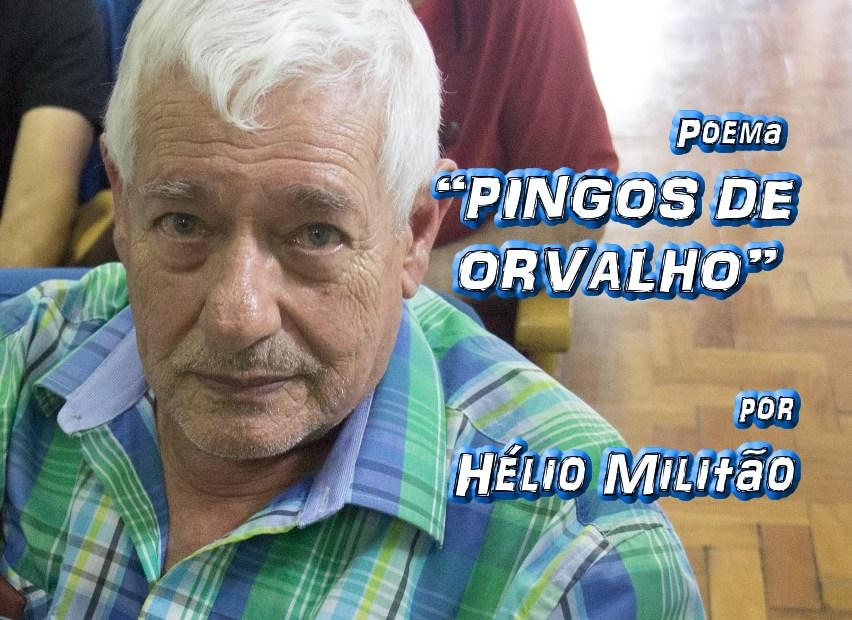 """02 - Poema """"PINGOS DE ORVALHO"""" por Hélio Militão - Pílulas de Poesia"""