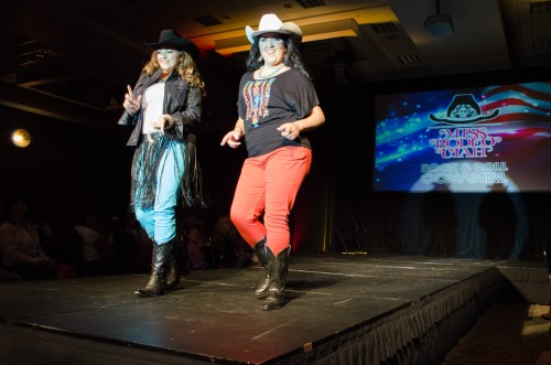 Cassidy Black and Dianna Drollette wearing Smith & Edwards at Miss Rodeo Utah 2014