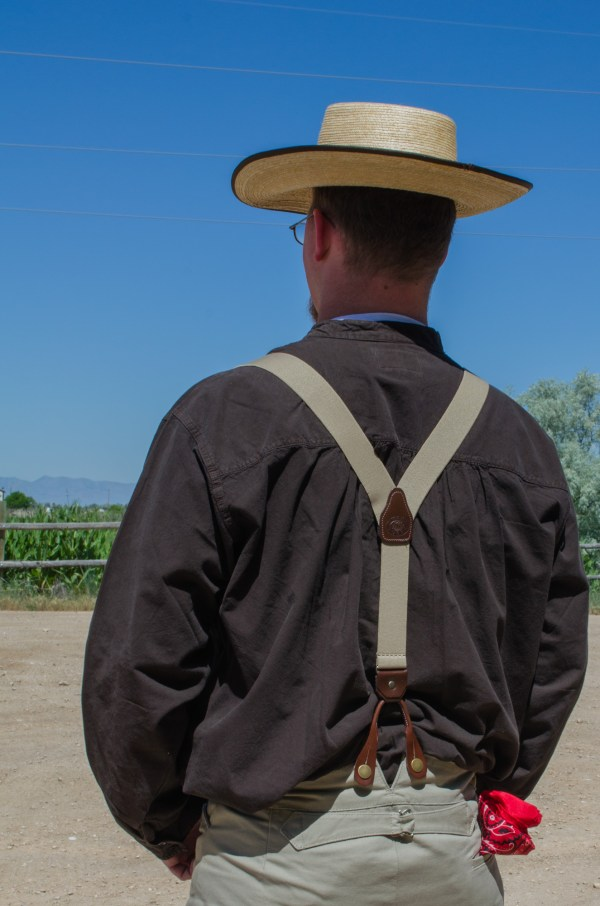 Back of the Men's pioneer outfit for Trek