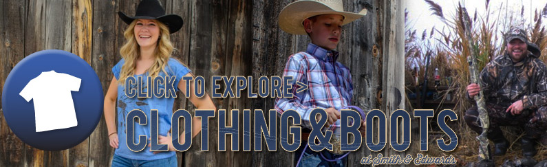 Explore Country Clothing, Camo, Cowboy Boots & more at Smith & Edwards!