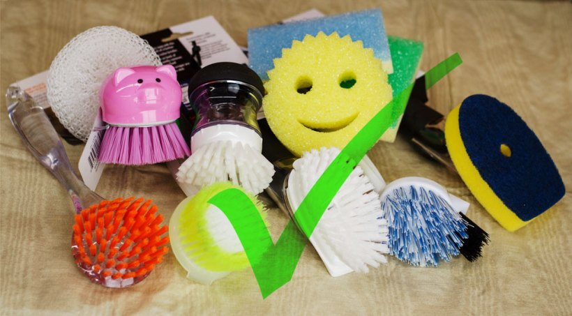 Use the Scrub Daddy or any foam, sponge, or plastic-bristle scrubbers on your pickling crocks