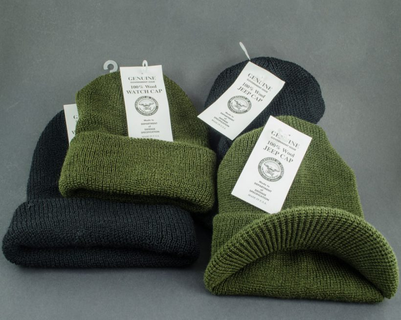 Wool Army hats at Smith and Edwards