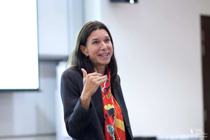 "Assistant Professor Anne-Valerie Ohlsson-Corboz spoke at SMU's Future Ready Forum 2016 on ""Learning from Expert Entrepreneurs: Creative Problem-solving in Organisational Settings"""