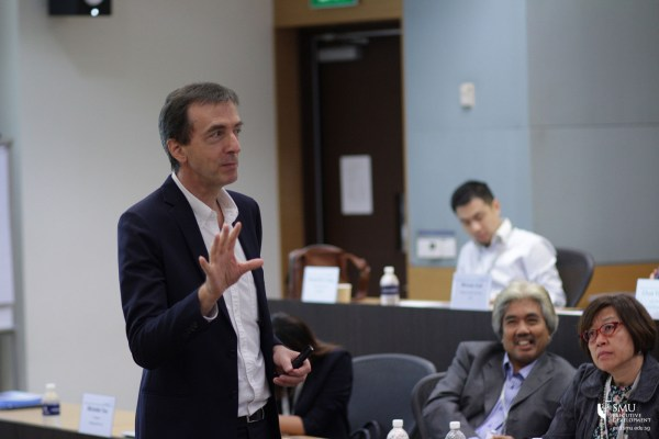 "Thomas Menkhoff spoke at the SMU's Future Ready Forum 2016 on ""Making Innovation Work Through Multi-Generational Teams, Reverse Mentoring and Transformational Leadership"""