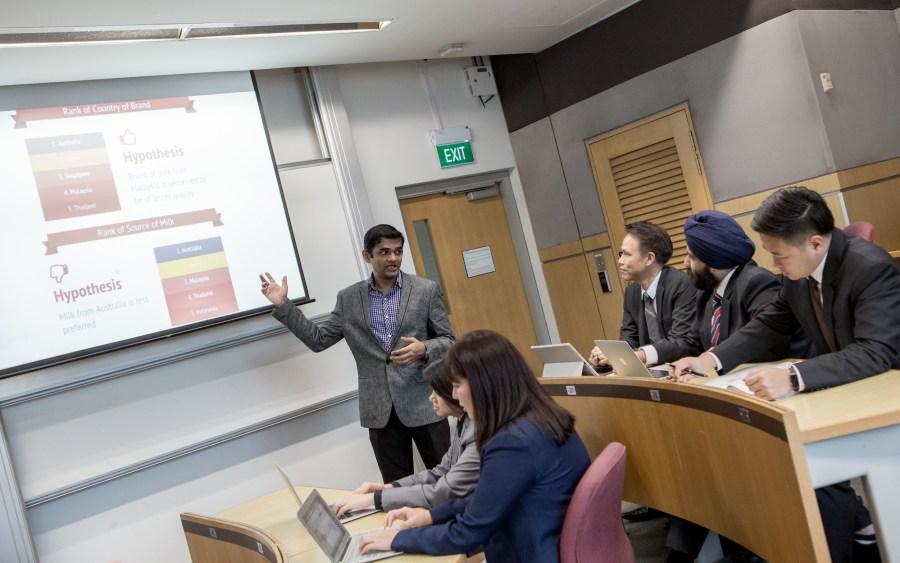 Anshuman Chaturvedi doing a presentation