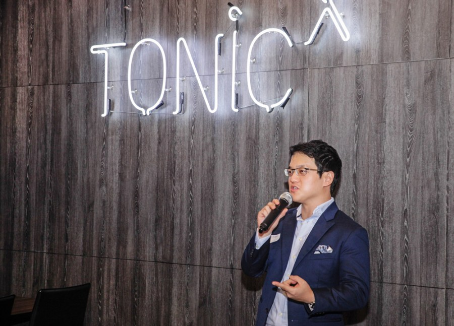 Benjamin Twoon give a talk at Tonic X