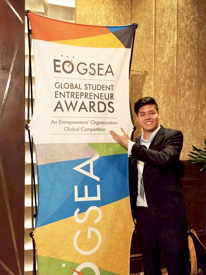 Jackson won Singapore National Champion at EO-GSEA 2016.