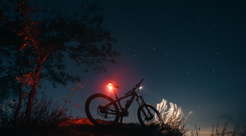 Night Cycling at East Coast Park