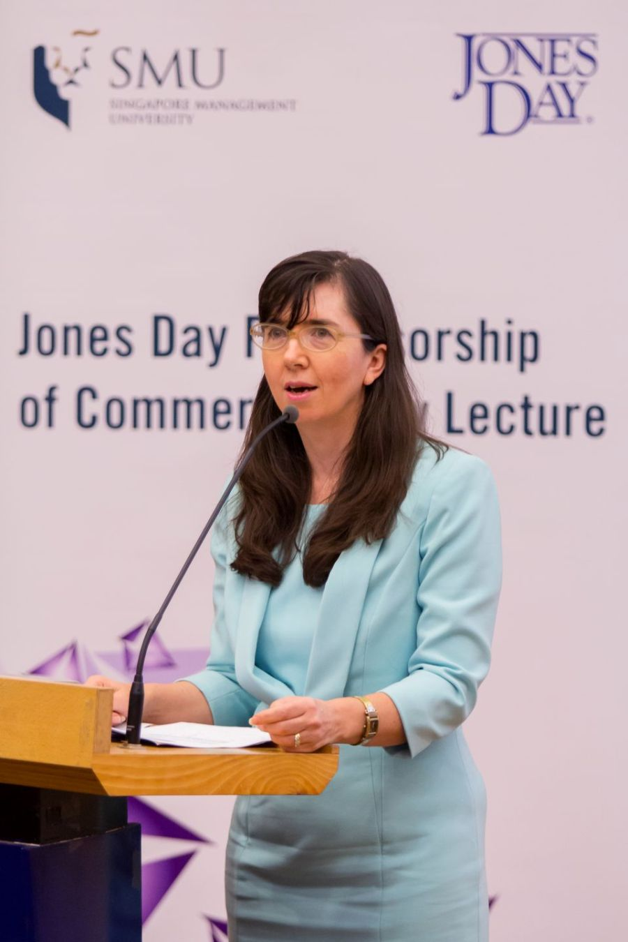 Elizabeth Cole speaking at the Jones Day Professorship of Commercial Law Lecture