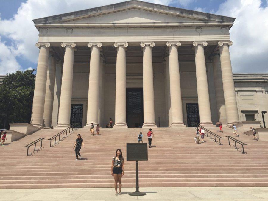 Ngoc at the National Gallery of Art, Washington DC