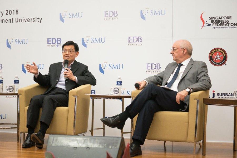 Finance Minister Heng Swee Keat and Prof Arnoud De Meyer