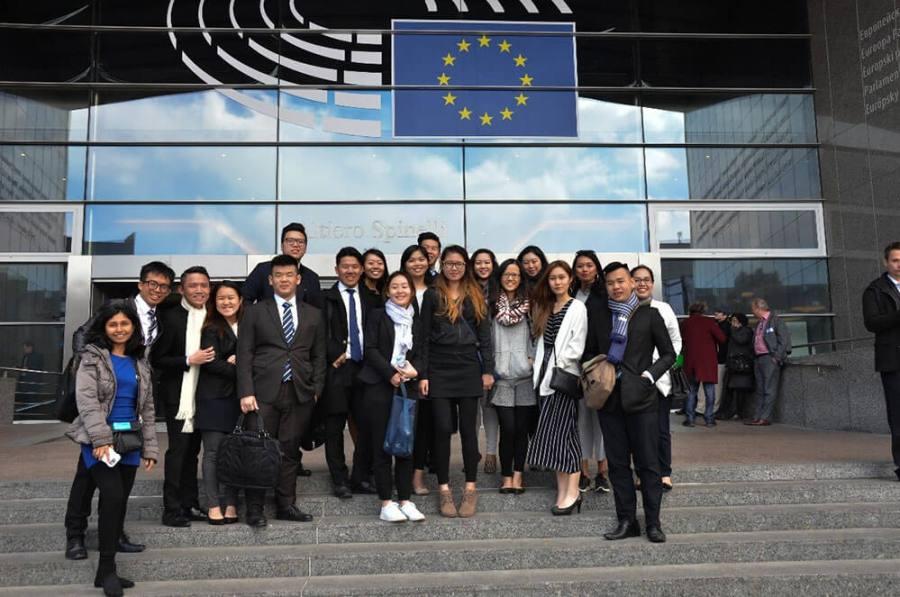 Sean Lim meeting EU staff
