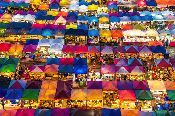 Colorful market in Ratchadapisek Bangkok
