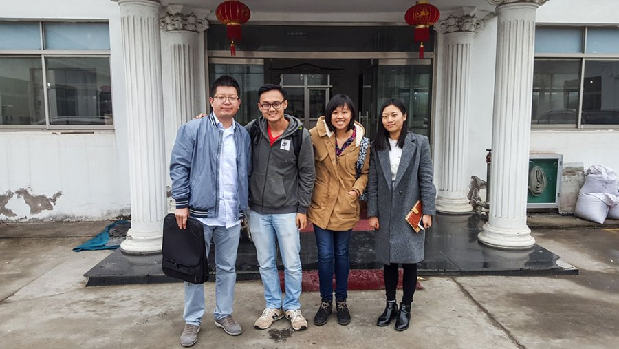 Mandy Chan - Factory visit in China