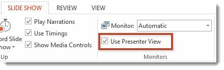 use presenter view