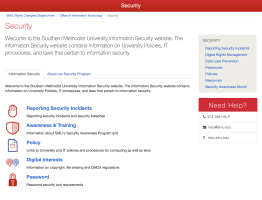 Information Security at SMU