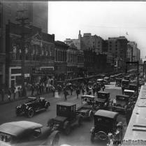 Looking southwest on Main, 1925