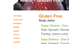Comfy Snap Kitchen Menu That Will Charm You