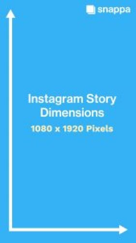 instagram story dimensions size in pixels