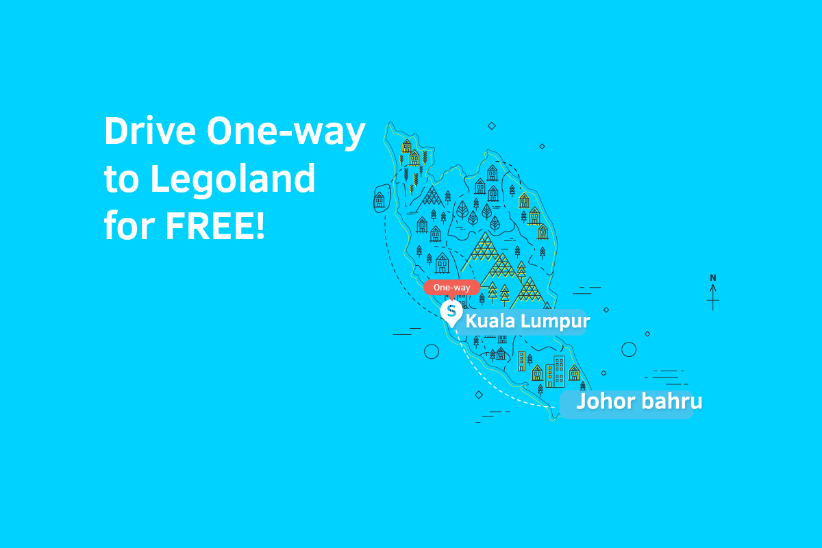 Drive One-way to Legoland for FREE!