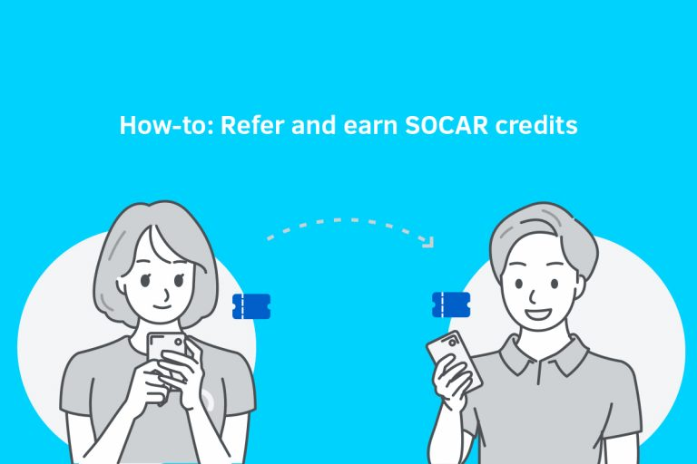 How-to refer and earn SOCAR credits