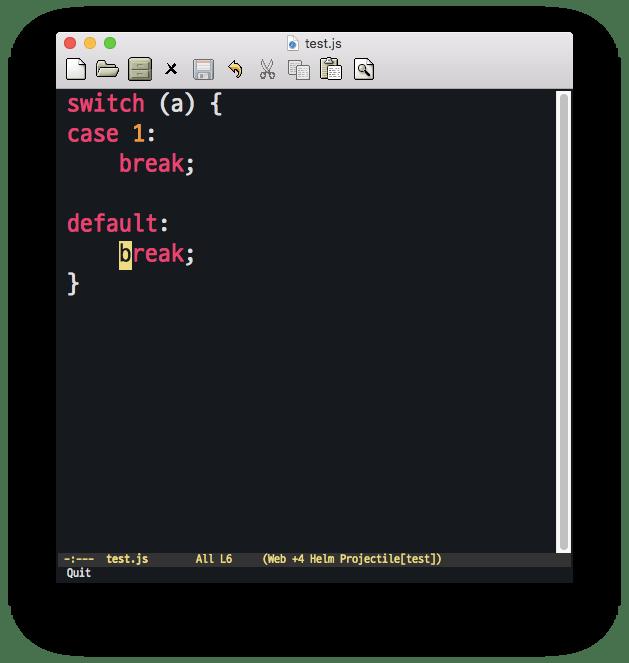 JavascriptCaseIndentation1