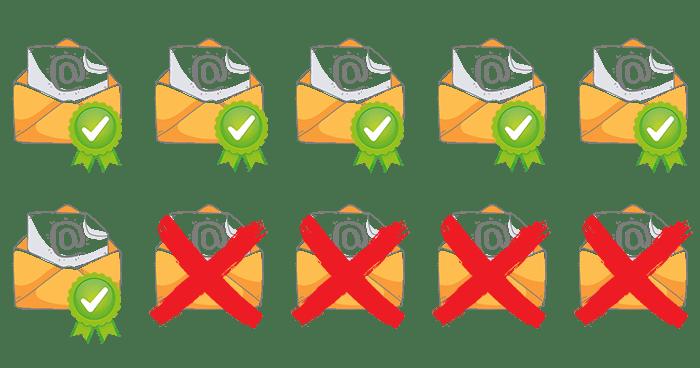 e-mails aprovados