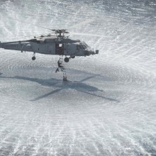 helicopter operating above sea water - salt threat
