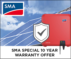10 Year Warranty Offer on SMA Sunny Boy Inverters