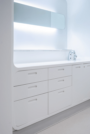 Cabinets - Corian Glacier WhiteCabinets - Corian Glacier White