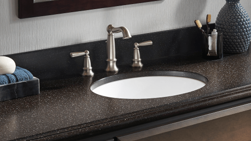 "Corian® solid surface 1"" sink edge thickness"