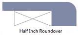 Half-inch roundover edge profile
