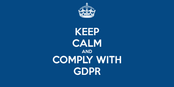 keep calm and comply with gdpr