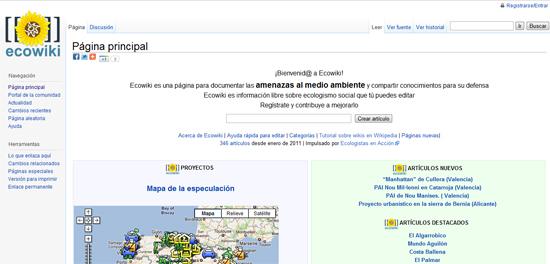 Ecowiki: La 'Wikipedia' española para defender el ambiente