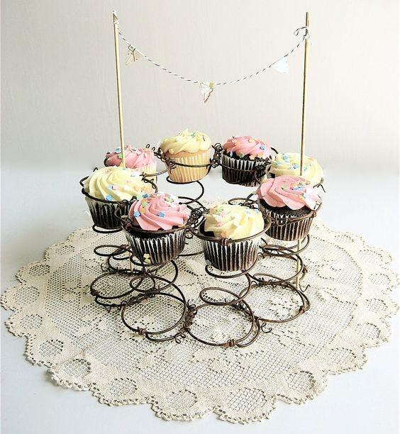 porta cupcake de resortes