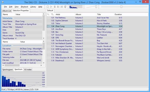 Foobar2000 offre une qualité d'écoute exceptionnelle grâce au pilote ASIO de NuForce