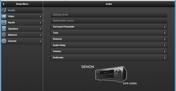 Le serveur web du Denon AVR-X3000 est intuitif.