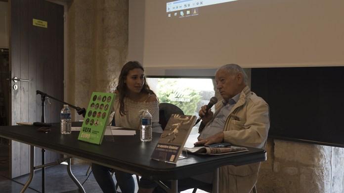 Conférence et débat avec Eugène Saccomano. Crédit photo : Marie Miquel