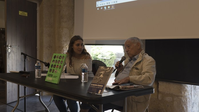 Conférence et débat avec Eugène Saccomano. Crédit photo: Marie Miquel