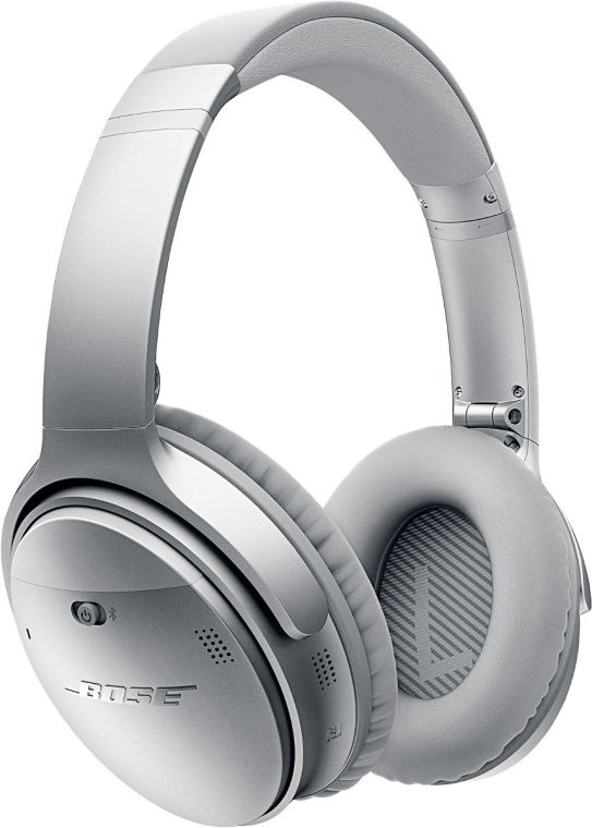 The Bose QuietComfort 35 over-ear Bluetooth headphones.