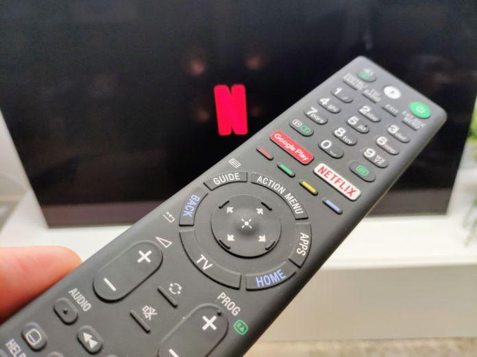 Télécommande TV avec bouton Netflix