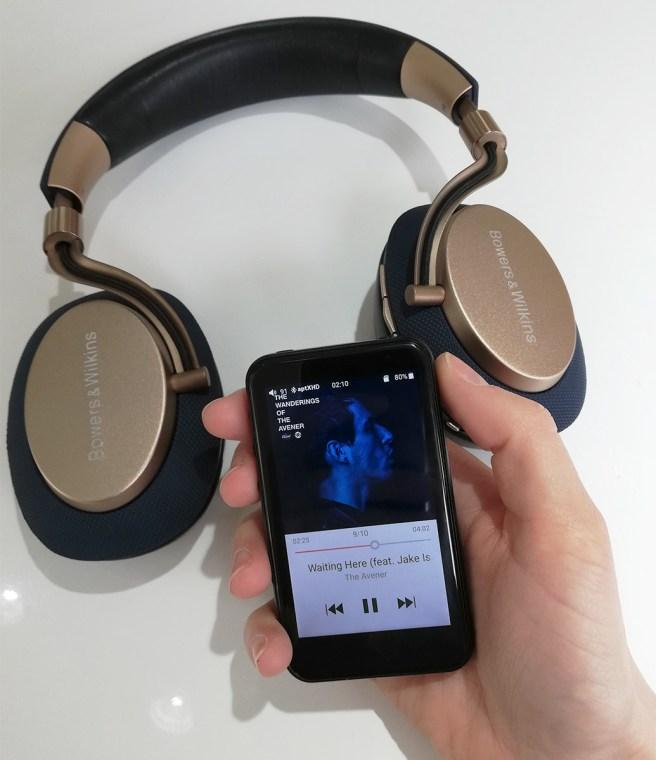 FiiO M6 et casque Bluetooth B&W PX